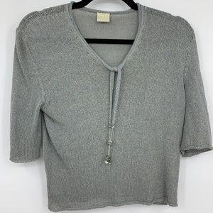 Krizia Maglia sweater large 44 silk viscose blend